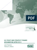U.S. Policy and Strategy Toward Afghanistan after 2014