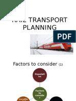 l6 Rail Transport Planning