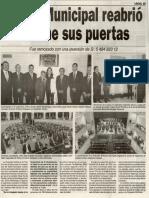 20-12-14 Teatro Municipal reabrió anoche sus puertas