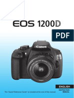 Canon Eos 1200d Instruction Manual 119284