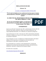 Resolución 0318 de 2000 (Aceite)