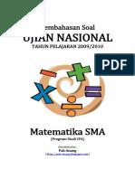 Pembahasan Soal UN Matematika SMA Program Studi IPA 2010
