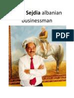 Ajdin Sejdia Albanian Businessman