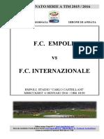 Empoli Inter 18giornataseriea