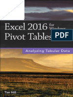 Excel 2016 for Windows Pivot Tables - Tim Hill