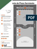 Reordenamiento Plaza Sarmiento