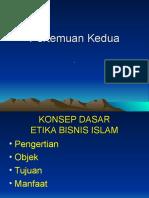 Konsep Dasar Etika Bisnis Islam