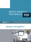 Specific Aspects of Food Safety Auditing