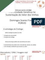 """Apresentações do seminário """"A Seleção da PORVID - Clones e Material Policlonal de Castas Portuguesas de Videira"""""""