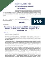 Decreto Del Congreso 7-94