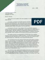 Sen. McCain FONOP Letter Response