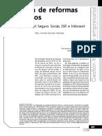 Iniciativa de Reformas en Salarios. Homologación Del Seguro Social, IsR e Infonavit