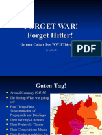 Humanities Post WWII Germany Ashley