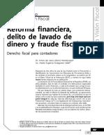 Reforma Financiera, Delito de Lavado de Dinero y Fraude Fiscal