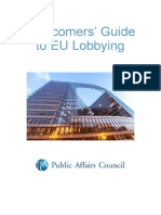 Newcomers' Guide to EU Lobbying