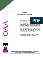 Documento Jornada Educacion Cientifica