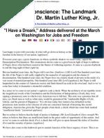 Address at March on Washington
