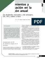 Acreditamientos y Compensación en La Declaración Anual. de Dividendos Nacionales y Del Extranjero, IDE, SPE y Saldos a Favor