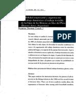 Flexibilidad empresarial y organización del trabajo doméstico
