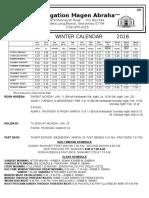 Winter Calendar 5776