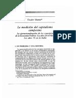 La Medicion Del Capitalismo Campesino - Teodor Shanin