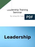Leadership Training Seminar