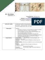 anatomy and physiology sylabus