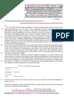 20160106-Schorel-Hlavka O.W.B. to Mr Martin Pakula Attorney-General Re Request-(FOI)-Etc
