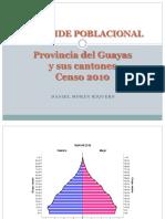 Pirámide Poblacional Guayas y Cantones 2010