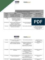 Propuesta de Calendarización Cátedras A+A_2015