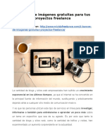 4 Bancos de imágenes gratuitas para tus proyectos freelance