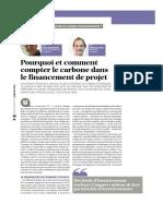 Pourquoi et comment compter le carbone dans le financement de projet