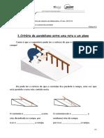 Criterios de Paralelismo e Perpendicularidade Ficha de Trabalho (1)