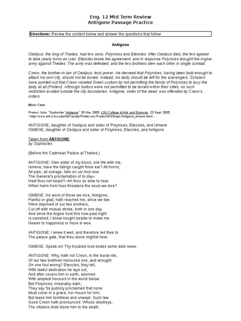 ismene character analysis