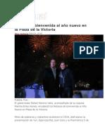 03-01-2016 Puntual - RMV Da La Bienvenida Al Año Nuevo en La Plaza de La Victoria