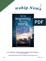 January 6, 2016 The Fellowship News