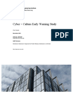Cyber + Culture Early Warning Study