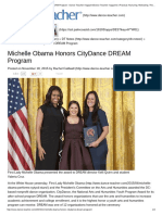 Michelle Obama Honors CityDance DREAM Program - Dance Teacher Magazine