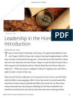 Leadership in the Home