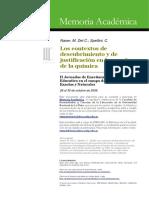 Contexto de Desc y Justf en La Enseñanza de La Quimica