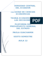 Proforma Del Presupuesto General Del Estado Del 2016