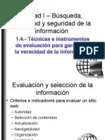 Técnicas e instrumentos para evaluar la información
