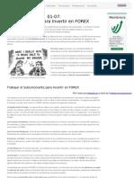 01-07 Psicología Para Invertir en FOREX