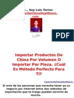 Importar Productos de China Por Volumen O Importar Por Pieza