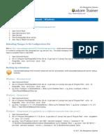 PostgreSQL Terminal Commands Windows