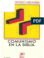 José Porfirio Miranda, Comunismo en La Biblia