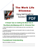 Workbook Srikumar Rao the Work Life Dilemma