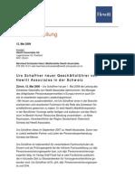 Urs Schaffner neuer Geschäftsführer von Hewitt Schweiz
