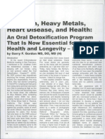 Chelation Therapy, Oral Detoxification for Health