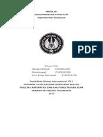 makalah Implementasi Kurikulum